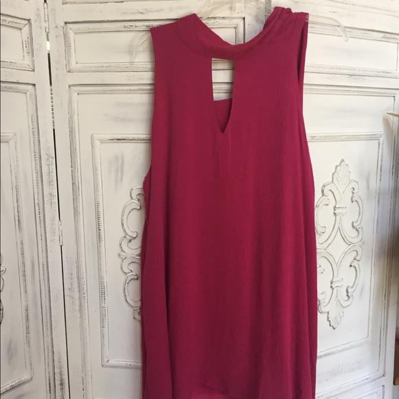 Umgee Dresses & Skirts - NEW Hot Pink Sleeveless Umgee Dress with Cutouts